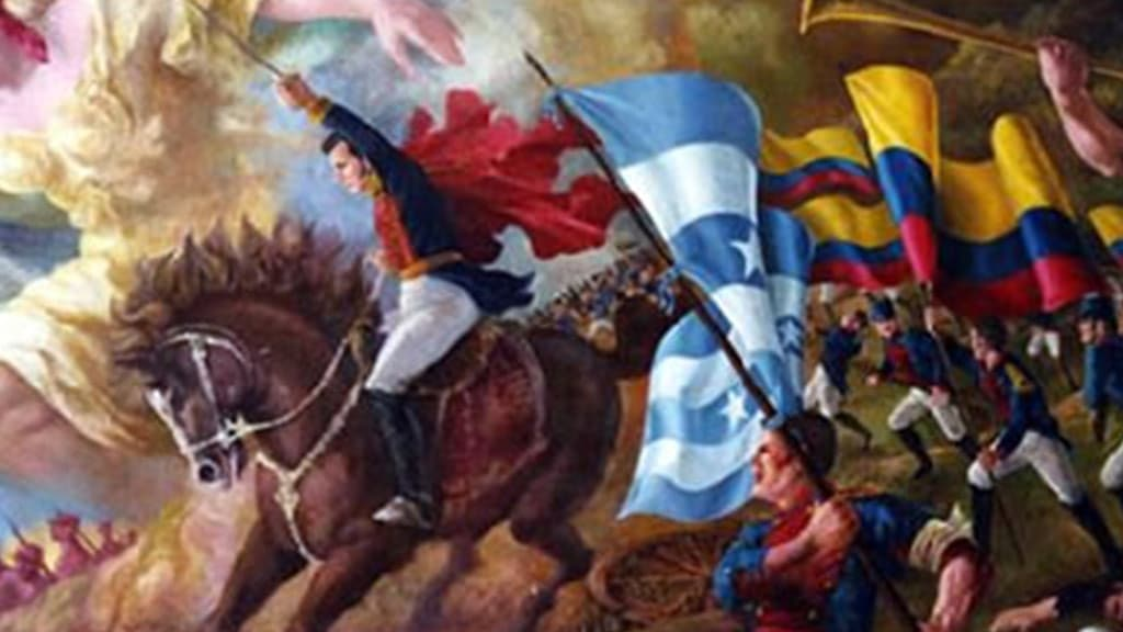 24th may battle of pichincha ecuador - patriot army leads a charge on pichincha volcano