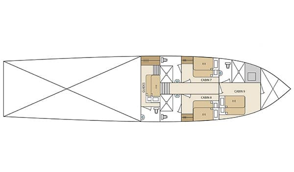 lower-deck-plan-Aqua-yacht-Galapagos-Islands