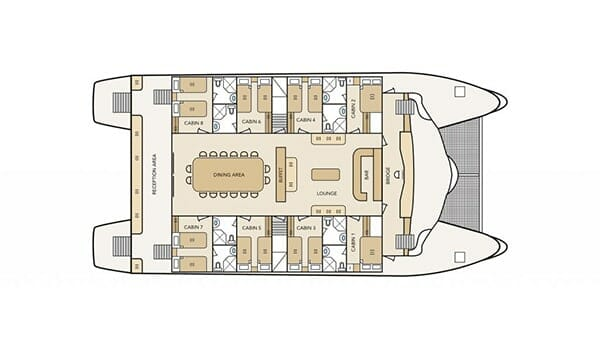 main-deck-plan-Archipel-II-Galapagos-cruise