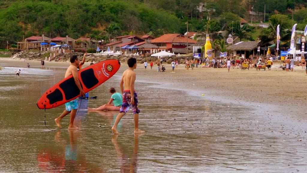 ecuador carnival - head to the beach at montañita