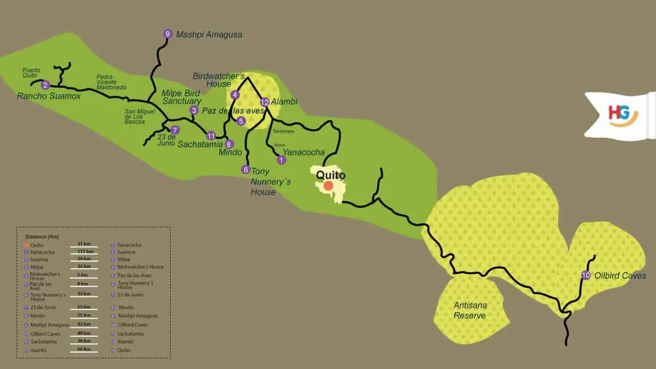 nature-photography-tour-7-days-itinerary-map