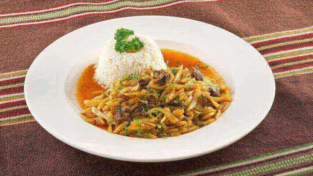 OLLUQUITO CON CHARQUI peruvian food