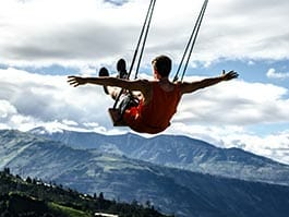 the swing at the end of the world banos ecuador