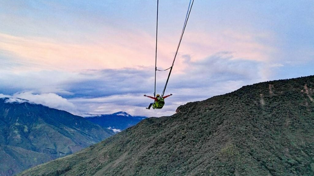 vuelo del condor swing banos ecuador