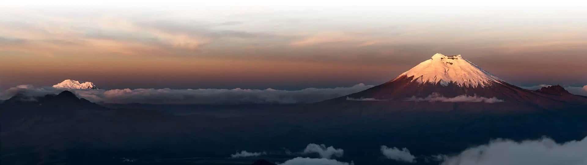 cotopaxi volcano ecuador above the clouds