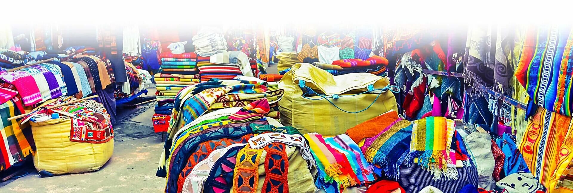 colorful otavalo market stalls ecuador