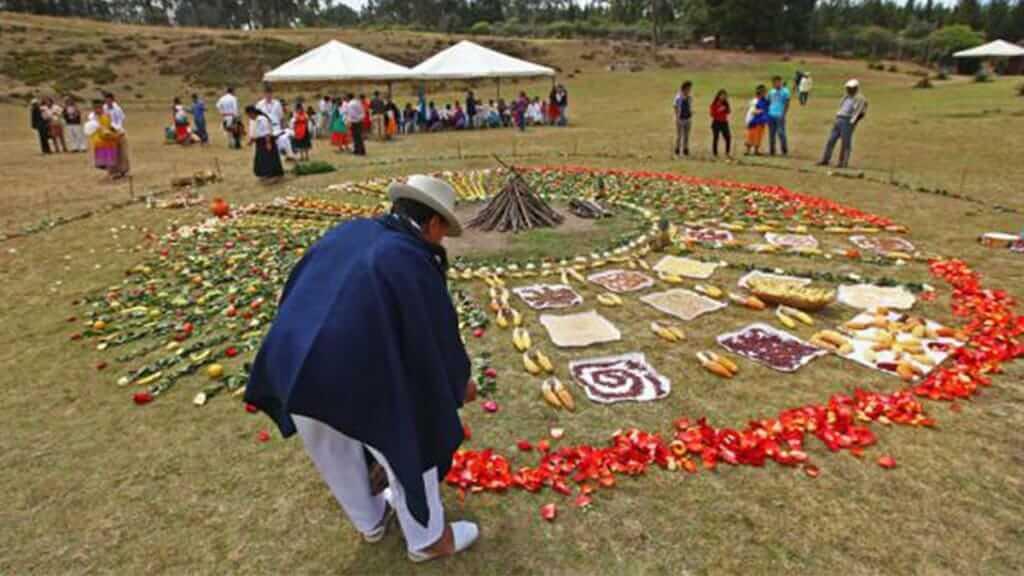 inti raymi celebrations at Cochasqui ecuador close to quito