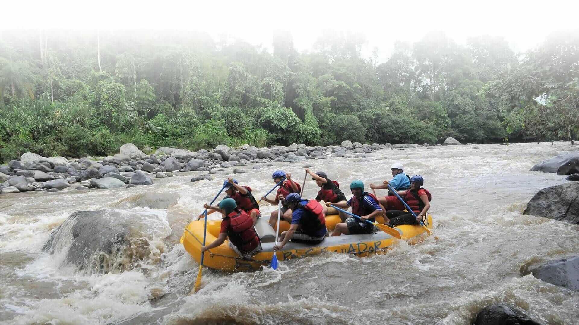 adventure white water rafting ecuador