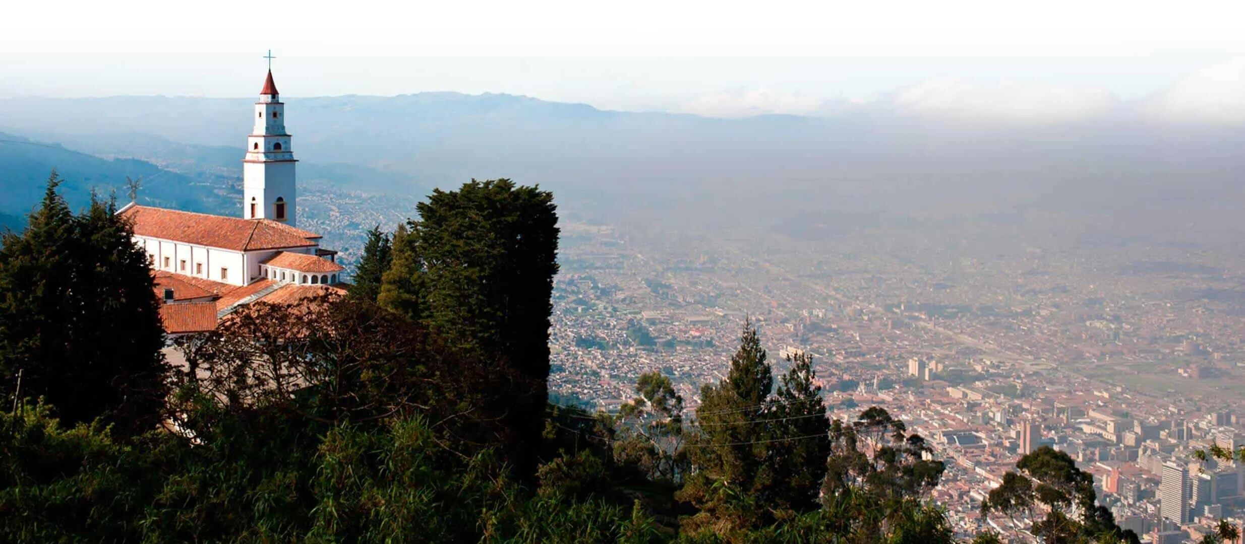 view over bogota city colombia