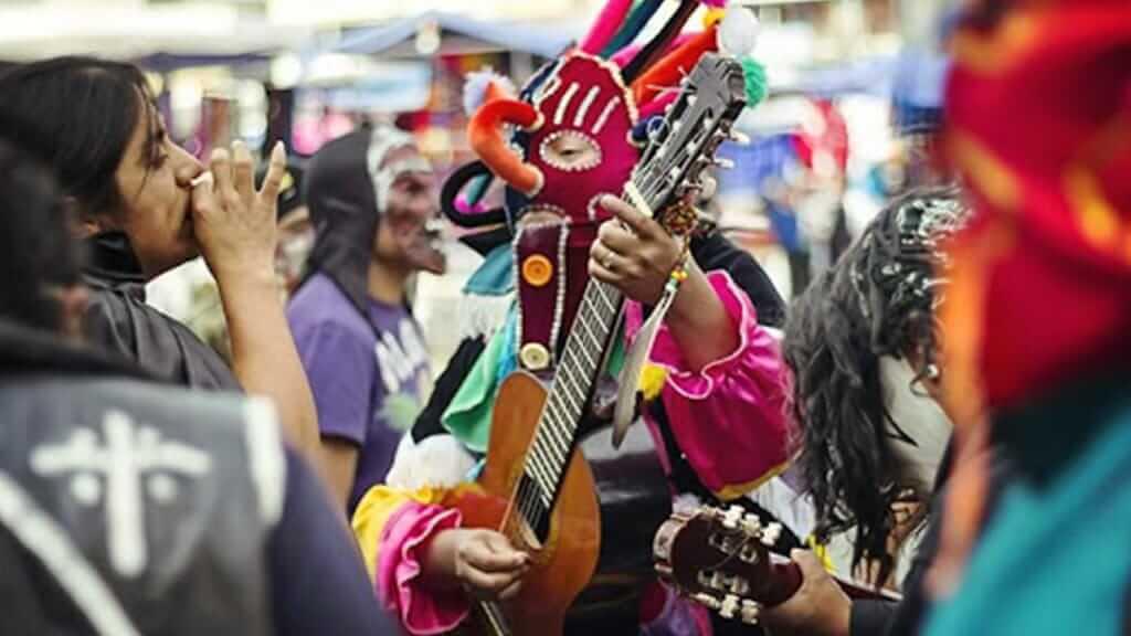 Inti Raymi summer solstice festival in otavalo ecuador