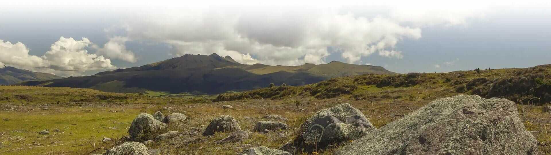 pasochoa reserve landscape in ecuador