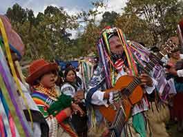 inti raymi ecuador celebrations with guitar music