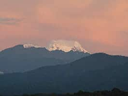 thumb volcan antisana ecological reserve at twilight with pink sky